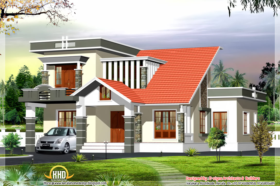 Kerala Style Modern Contemporary House 2600 Sq Ft: contemporary house builders