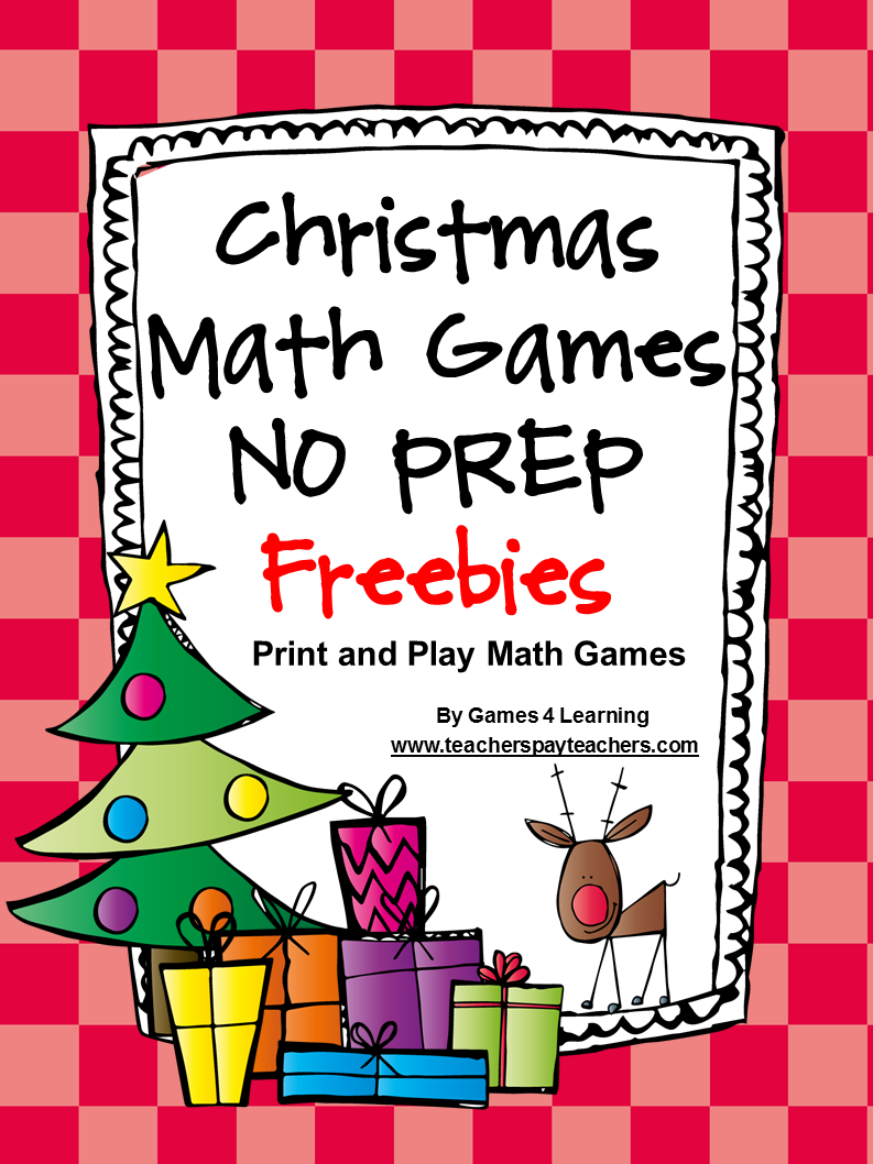 This is a graphic of Influential Christmas Math Games Printable