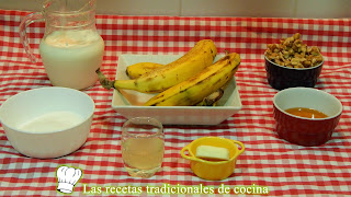 Receta fácil de mousse de plátano con nueces
