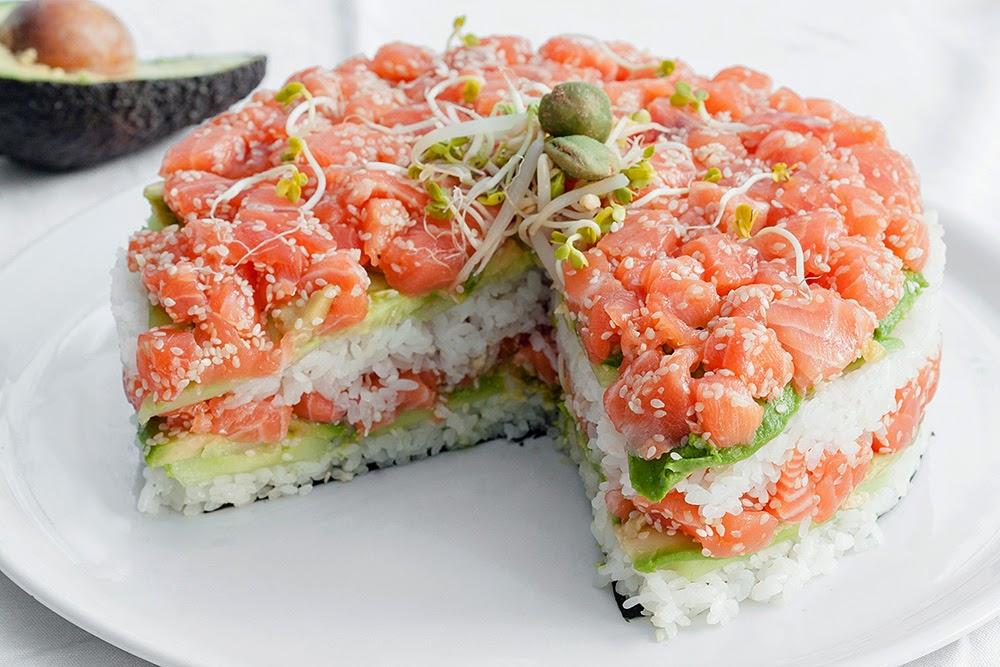 sushi cake recept