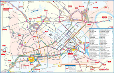 Plane Transport Network Hanoi (Vietnam)