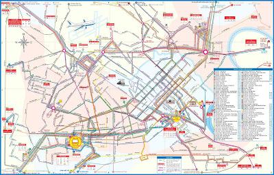 Plano de la red de Transporte de Hanoi (Vietnam)