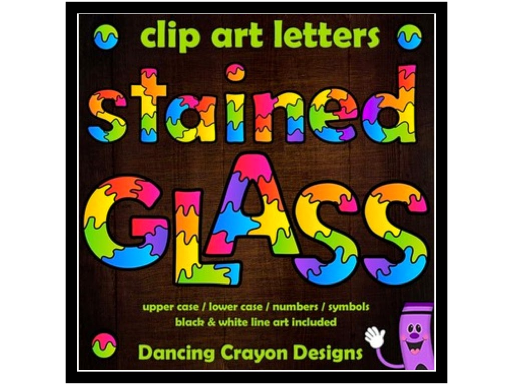 http://www.teacherspayteachers.com/Product/Alphabet-Clipart-Letters-Stained-Glass-Effect-Letters-1387230