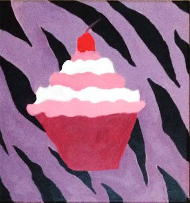 Painting of cupcake