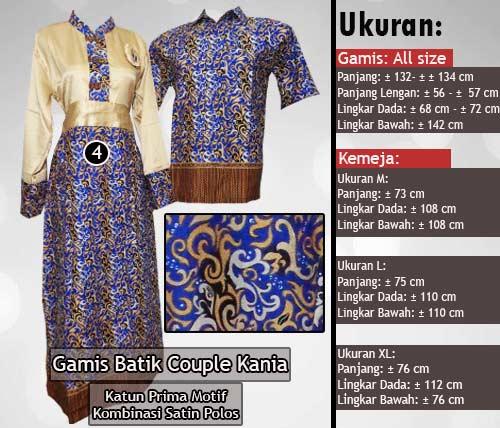 Gamis Batik Couple Model Kombinasi Terbaru 2016