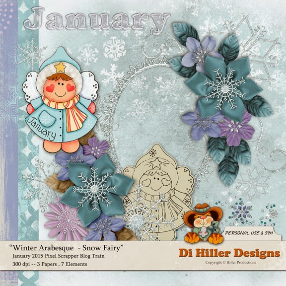 Winter Arabesque Snow Fairy Mini Kit