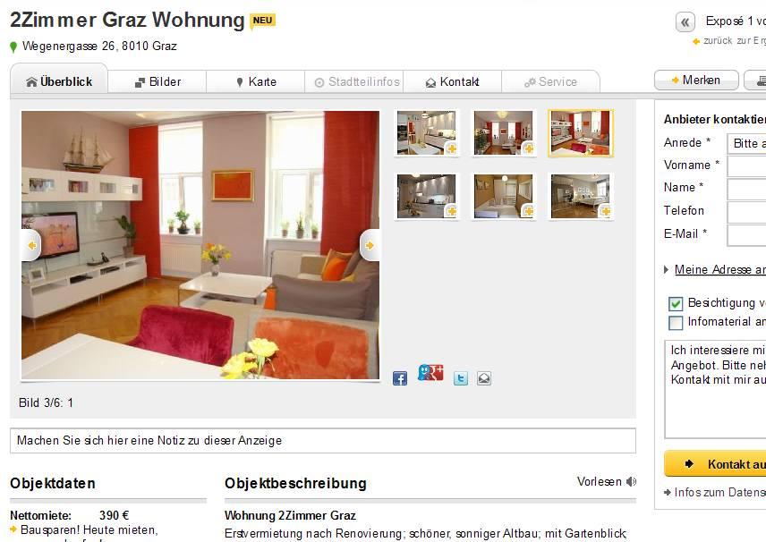 Graz single wohnung