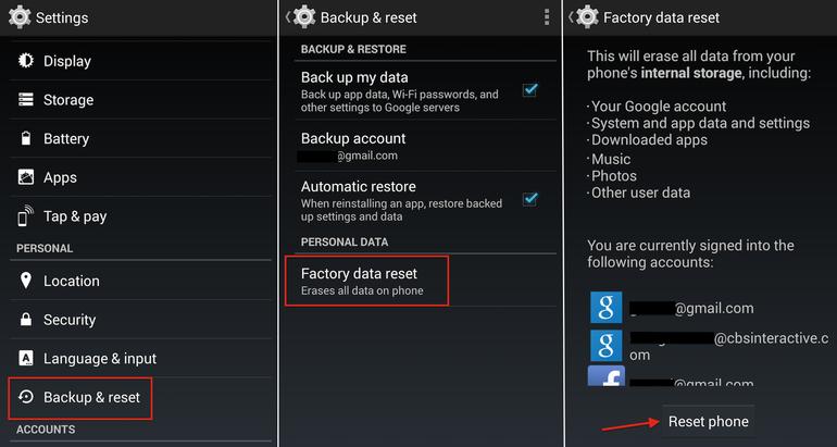 Hard Reset LG Optimus LTE 3 F260S using menu