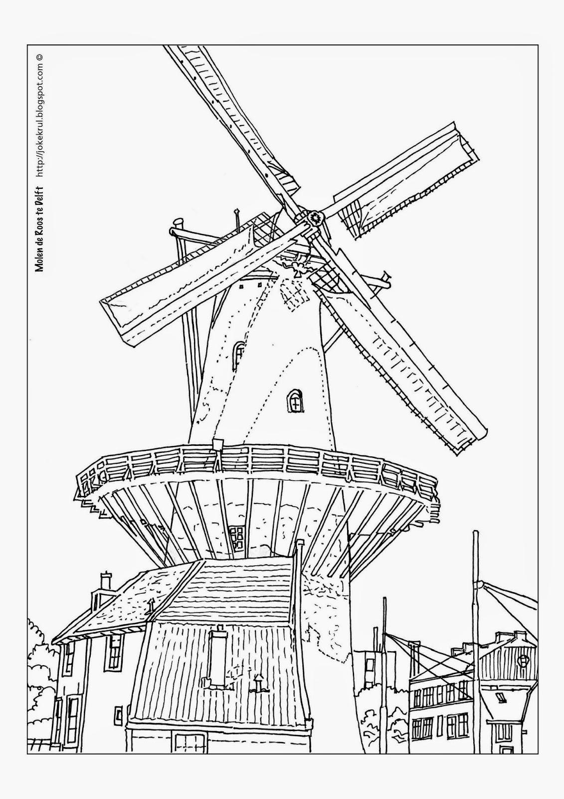 Joke Krul Grafische Vormgeving Kleurplaten Van Delft