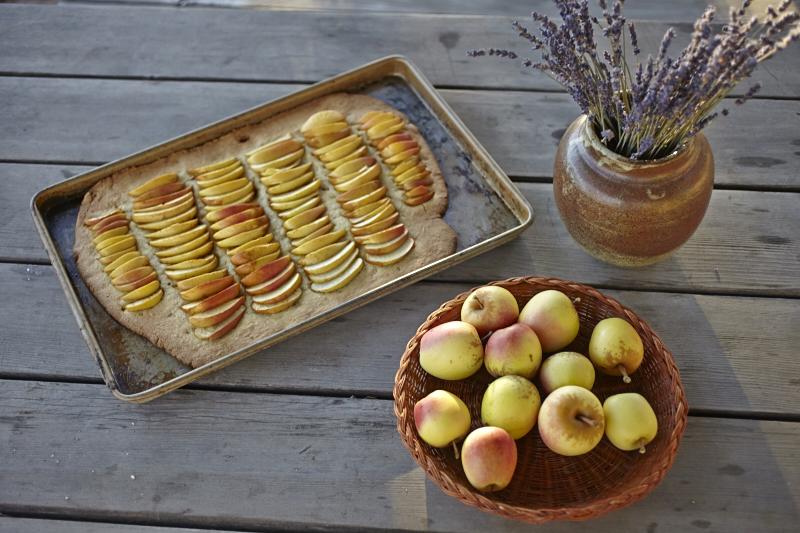 polenta crust apple tart galette crostata gluten free