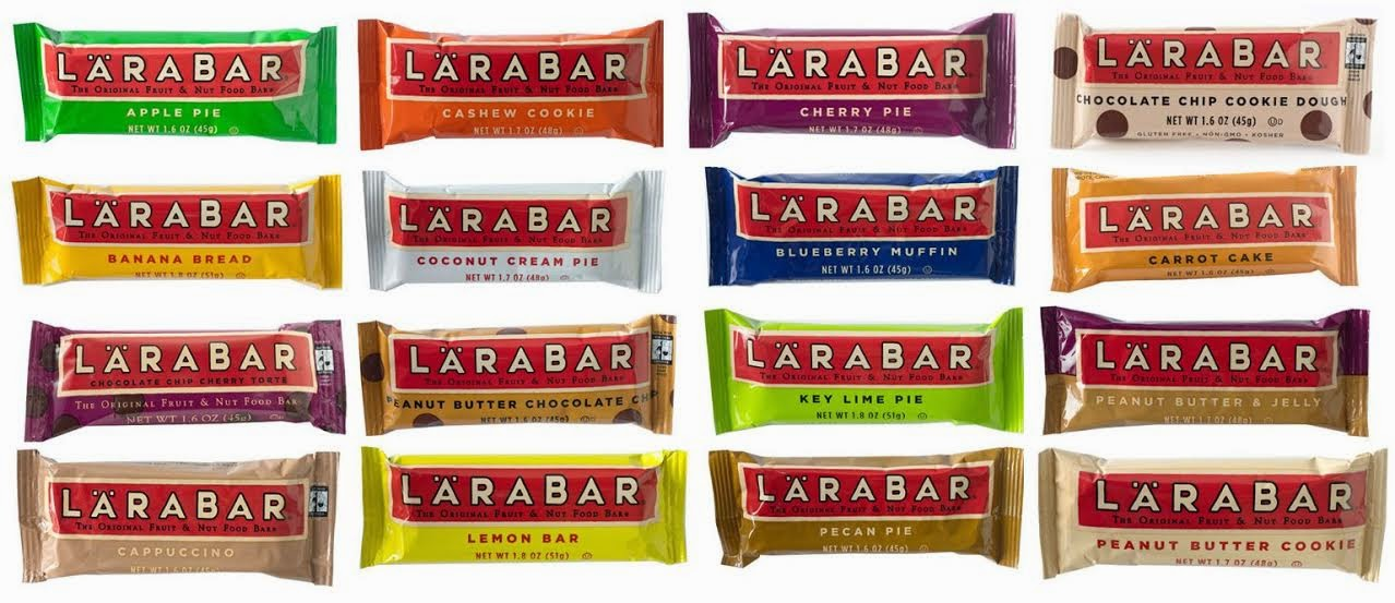 16 varieties of Larabar