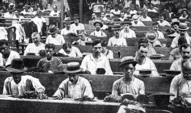 Tabaquería cubana a principios del siglo XX