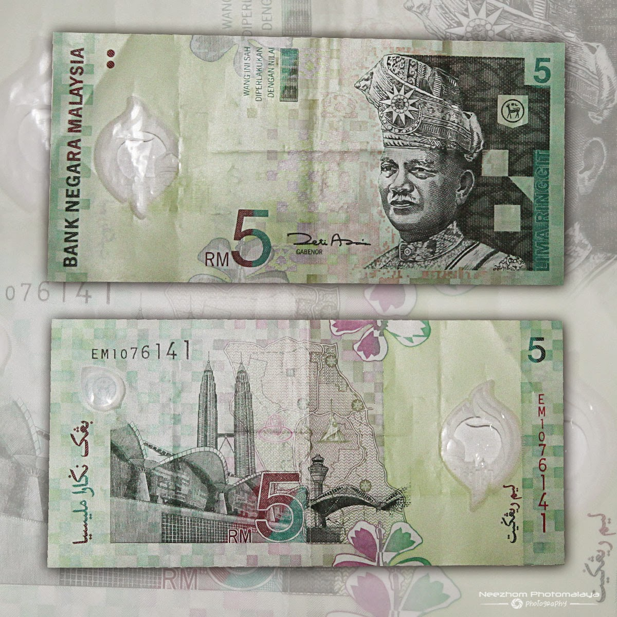 Malaysia 5 Ringgit 3rd series polymer banknote