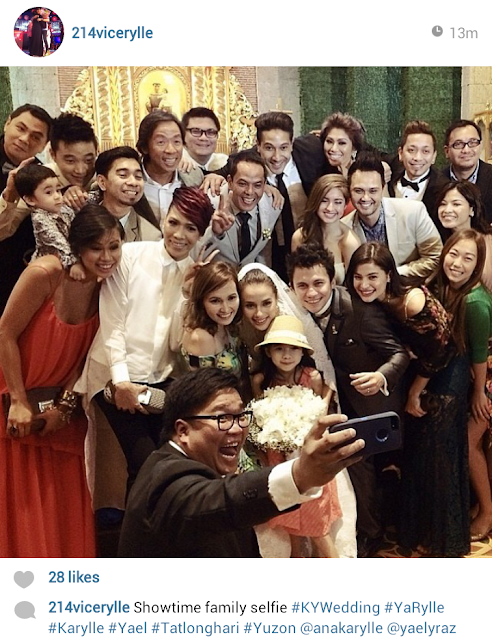 karylle and yael wedding selfie