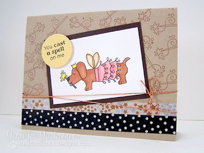 Dachshund card with tutu by Newton's Nook Designs