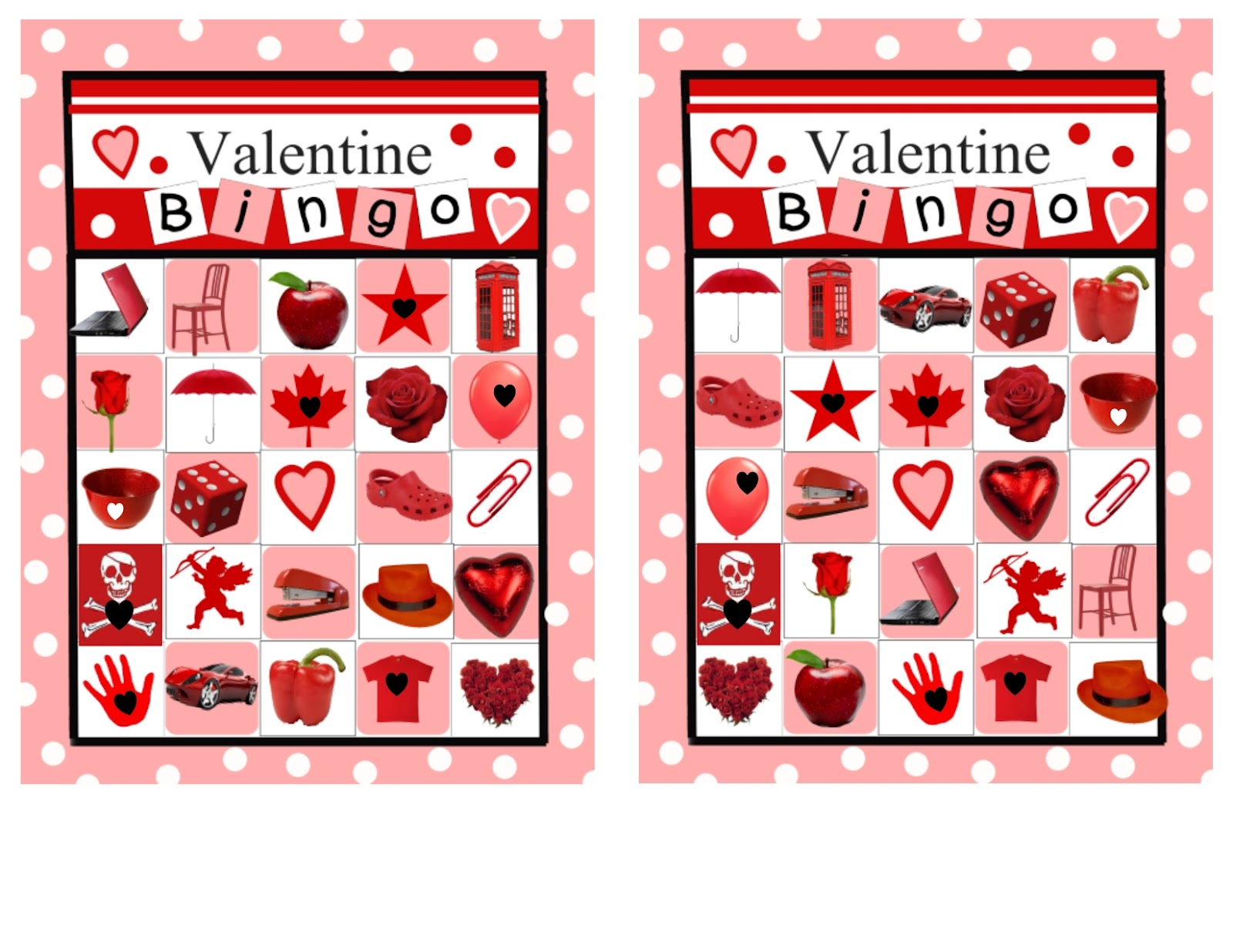 Visiting Teaching surprise Valentine Bingo 2 different sets of – Free Valentine Bingo Cards