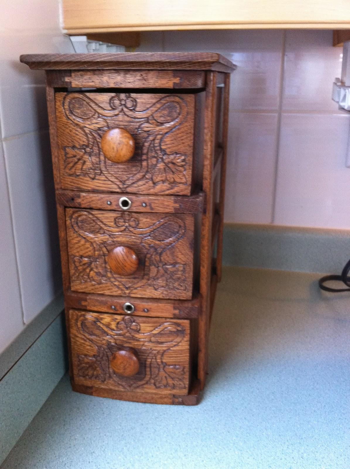 repurposed sewing machine drawers