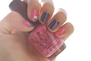 OPI Pink Nail Polish Hello Kitty Nail Sticker
