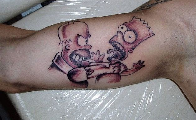 Simpsons Tattoos: Homer Bart Marge