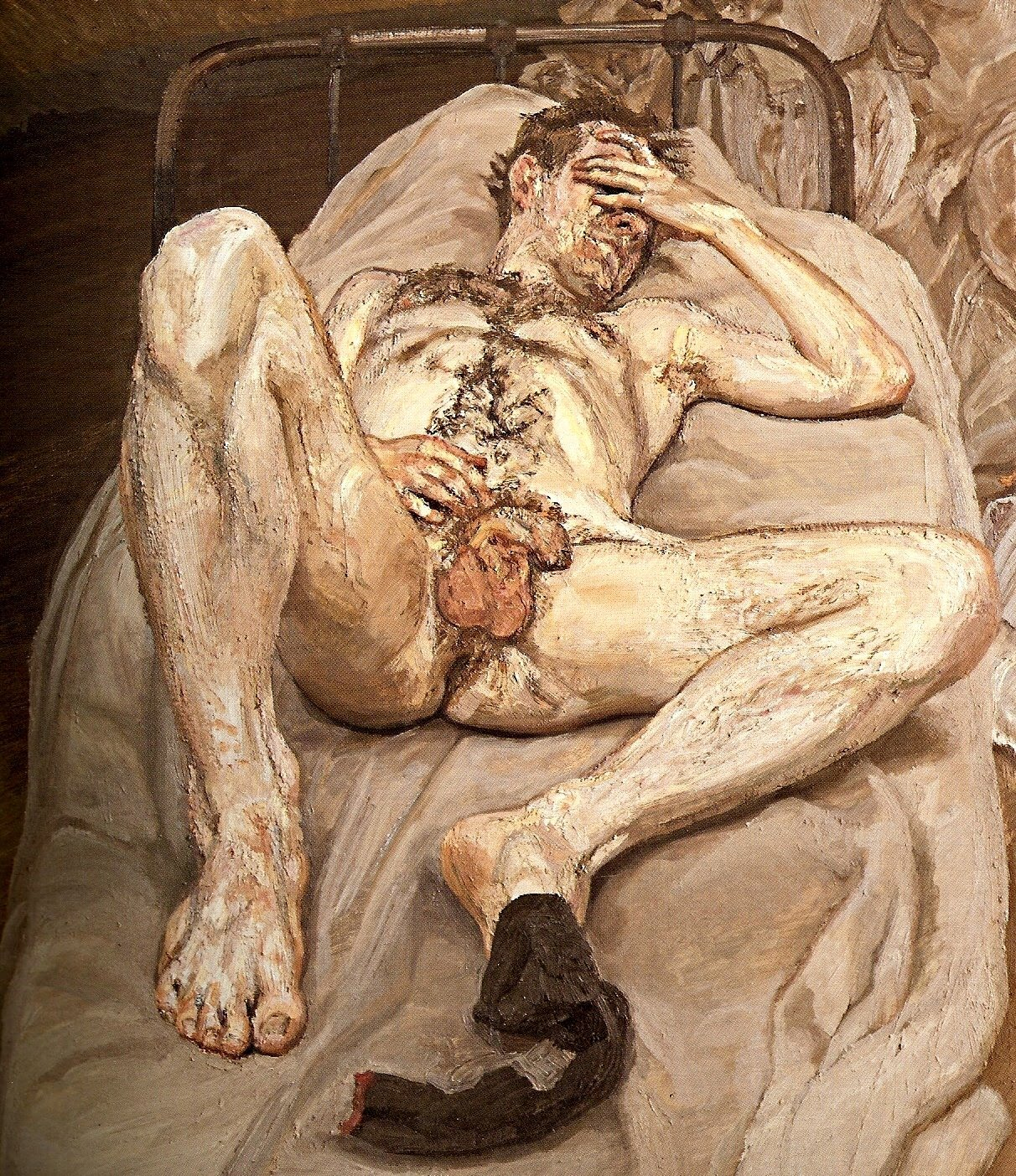 an uncouth male nude