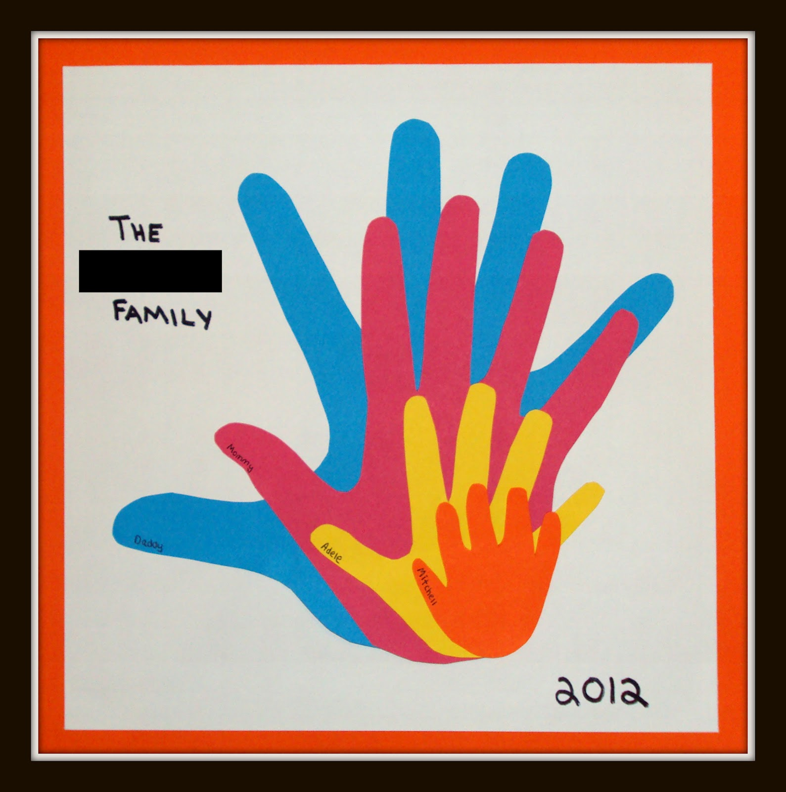 Mom 39 s tot school handprint family craft for Family arts and crafts