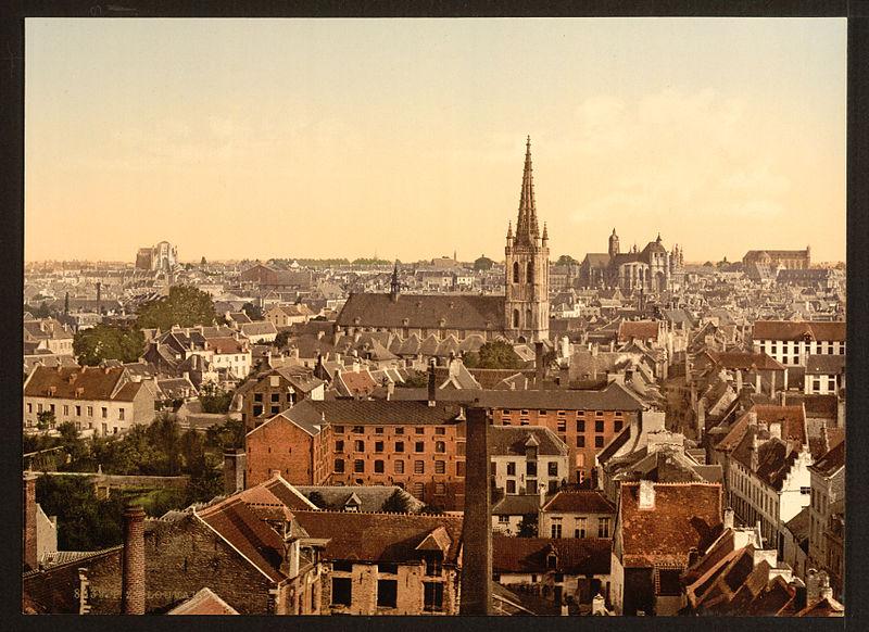 Image result for Germans burn Belgian town of Louvain