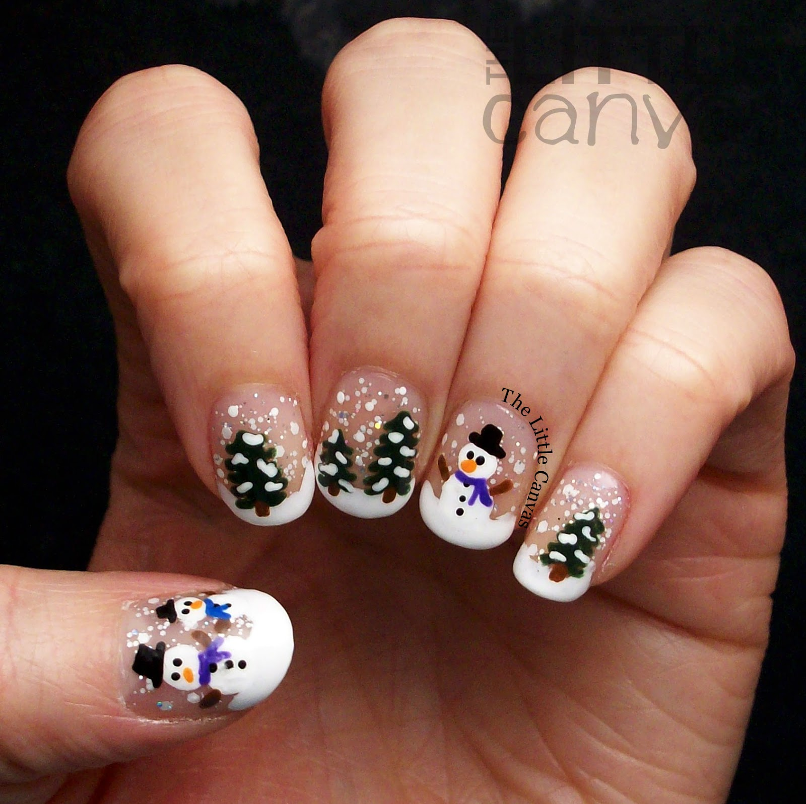 Snow globe nail art the little canvas lets take a look prinsesfo Images
