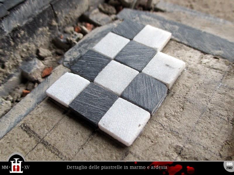 Domus project costruzione 189 pavimento del piano nobile - Piastrelle in ardesia ...