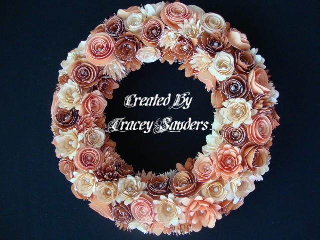 Gr8scraps Paper Flower Wreath Made With The Cricut