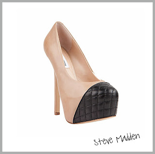 Two toned cap toe platforms by Steve Madden