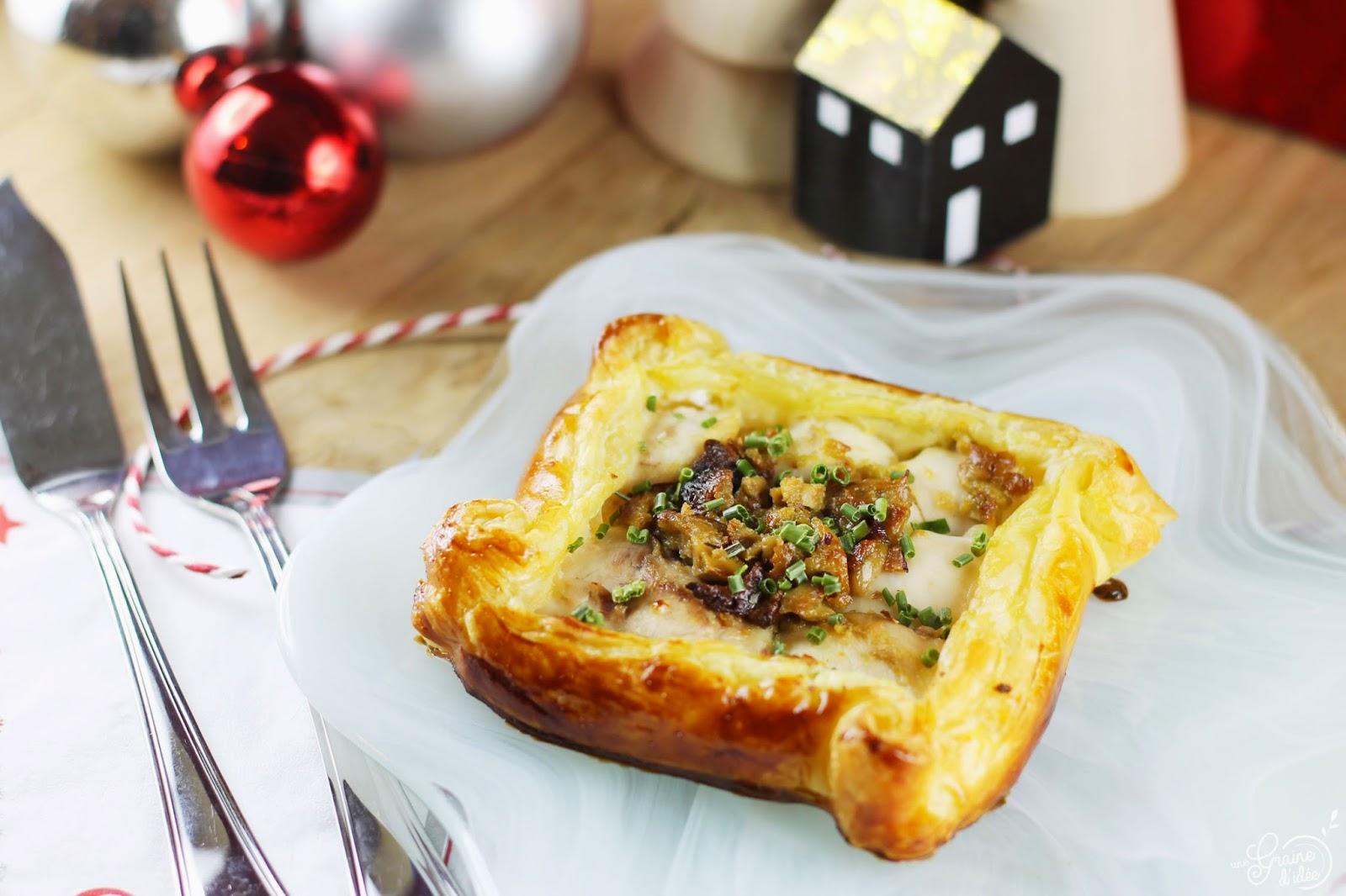 Feuilleté de Joues de Sandre, Foie gras et Sirop d'Érable - Une Graine d'Idée