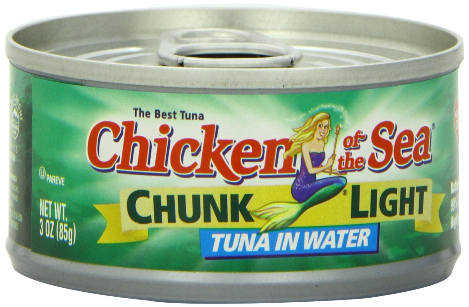24 cans 3oz chicken of the sea chunk light tuna in water for Tuna fish nutrition