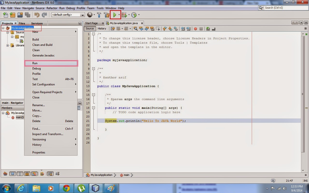 How to create and run Java SE Application Project using Netbeans IDE, Java application development, java project development using netbeans, java tutorial, java learning resources, java education material, javawebaction, netbeans IDE java project, netbeans ide, net beans ide, how to run java se project using netbeans ide, how to develop a java se application project, java application software, java code example, java code tutorial, java software learning, java software education, java se desktop custom application development, java documents, java computing