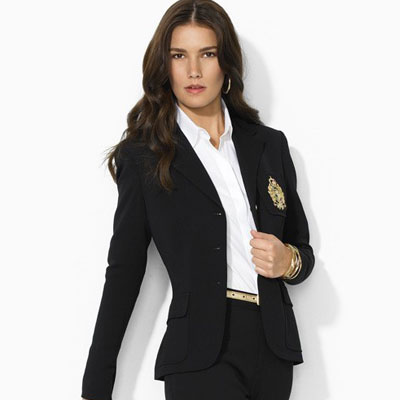 ralph lauren classic logo crest black blazer when you buy your blazer. Black Bedroom Furniture Sets. Home Design Ideas
