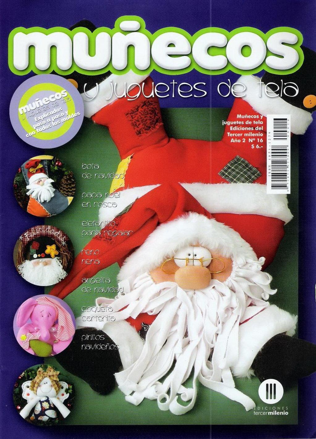 Revistas de manualidades gratis mu ecos y juguetes de - Manualidades de navidad en tela ...