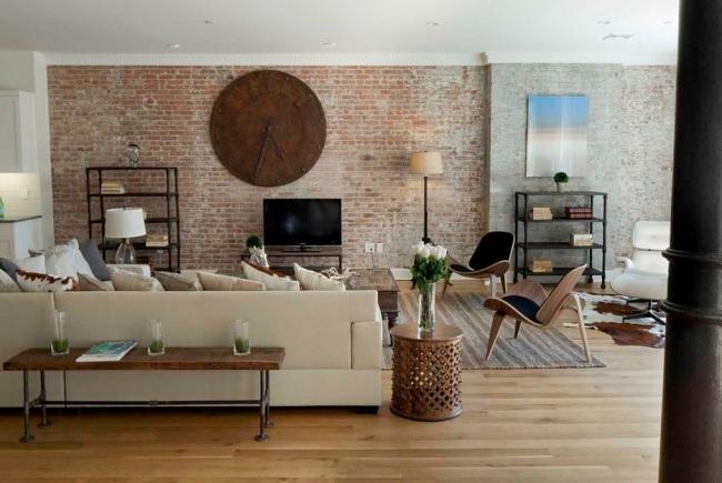 15 fotos de salas con paredes en piedra salas con estilo - Decoracion paredes salones ...
