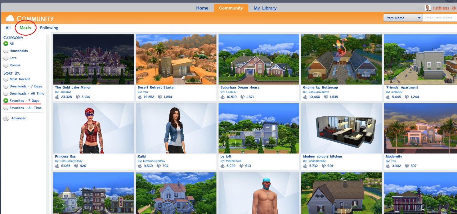 Tutorial: Using The Sims 4 Gallery