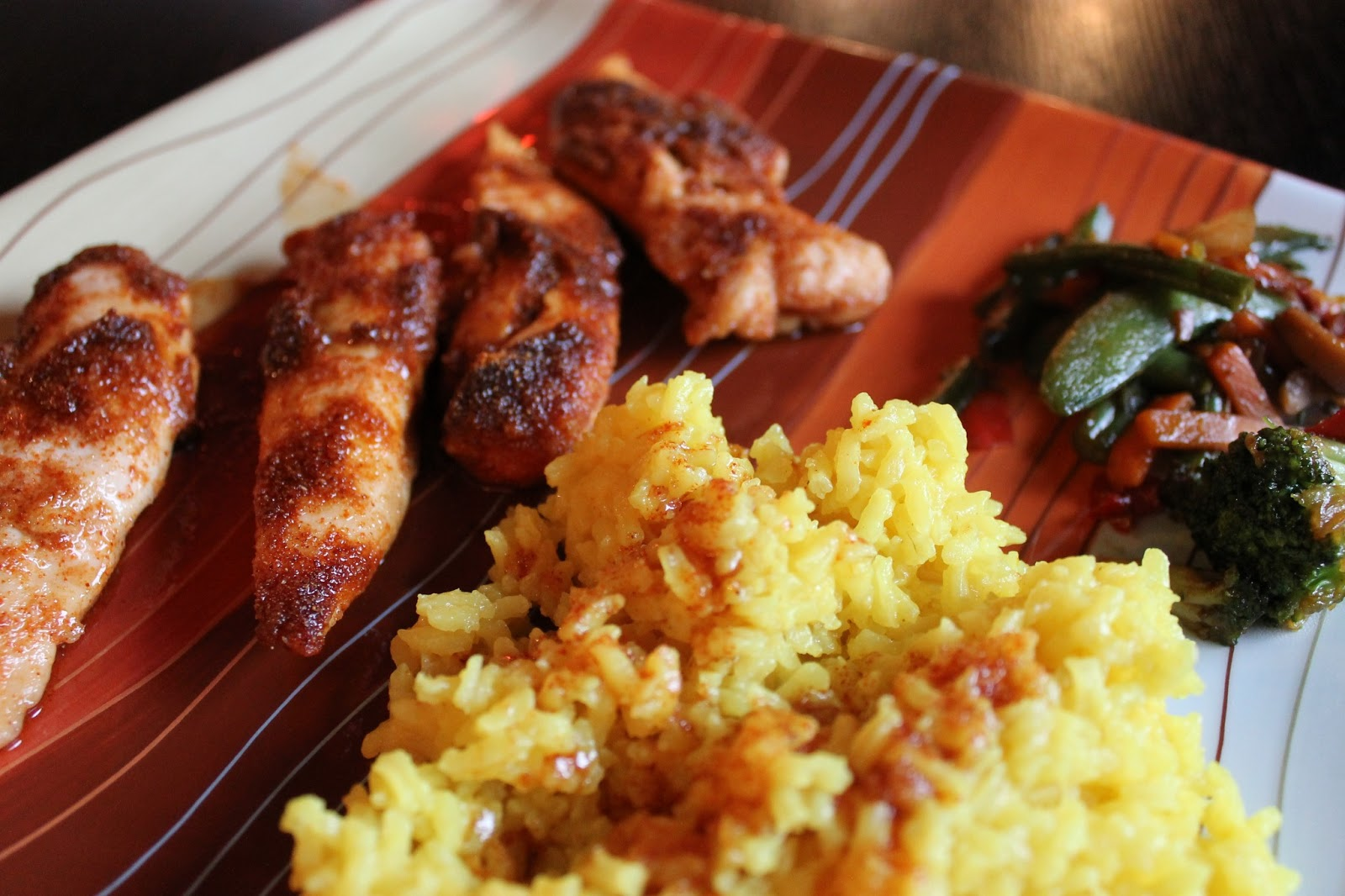 Paint Speckled Pawprints: Dinner of the Week: Spicy Honey Chicken