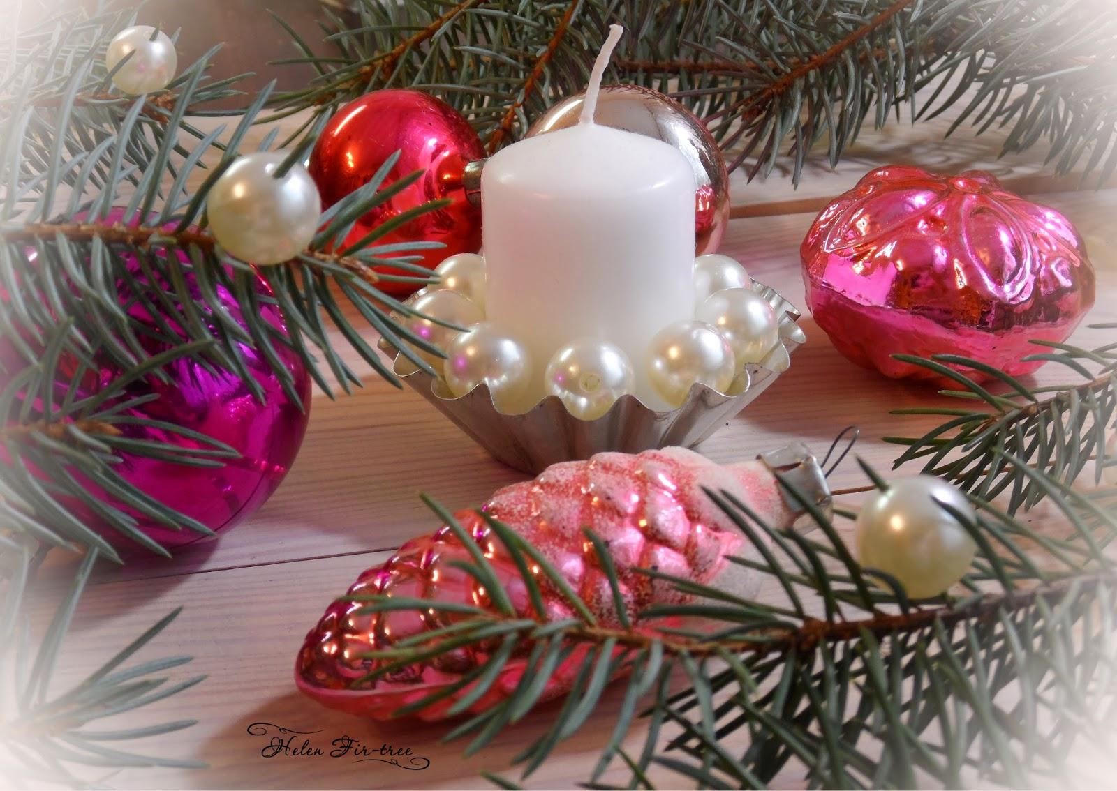 Helen Fir-tree винтажные ёлочные украшения Vintage Christmas decorations