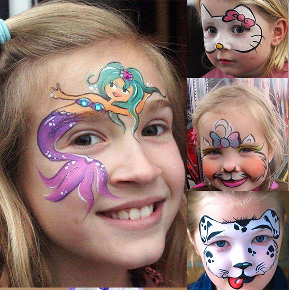 Kids face stickers ideas