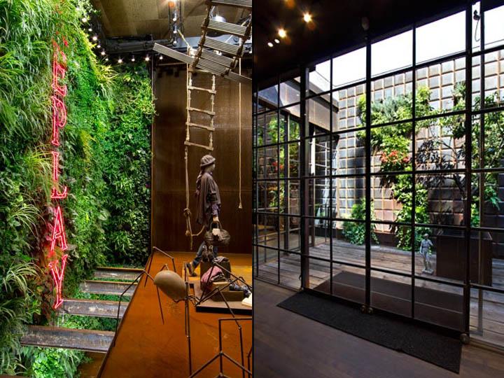 Replay Ii Store Interior By Vertical Garden Design