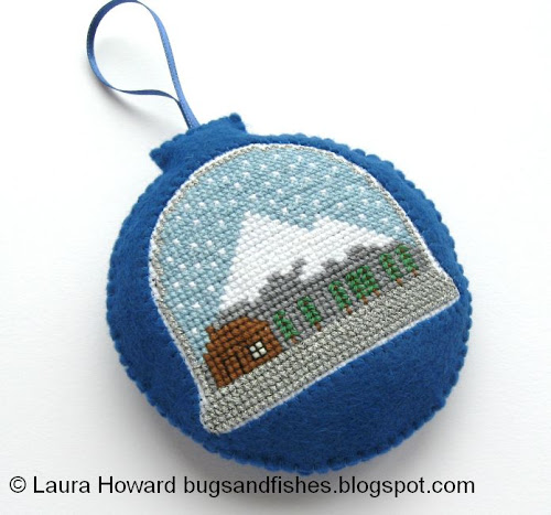 http://bugsandfishes.blogspot.com/2013/11/how-to-cross-stitch-snow-globe-ornament.html