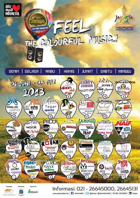 Jadwal Lengkap Konser Musik PRJ 2013