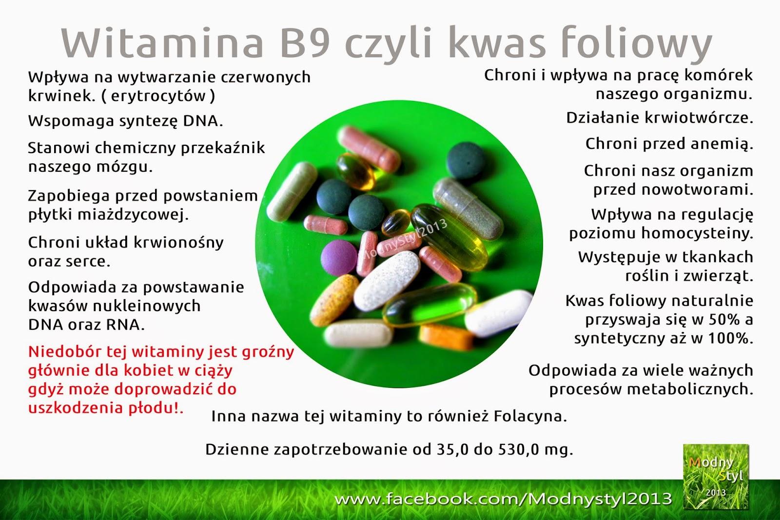 Kwas foliowy czyli witamina B9