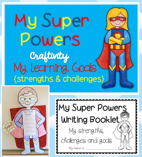 Super Powers Learning Goals Craftivity