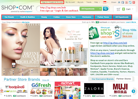 Shop Online & Earn Cashback... Pls feel free to view & shop http://sg.shop.com/sensesbeauty