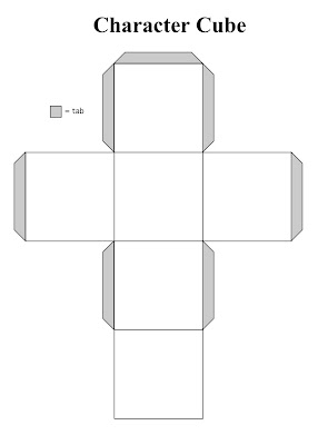 cut out character template - character cubes the corner on character