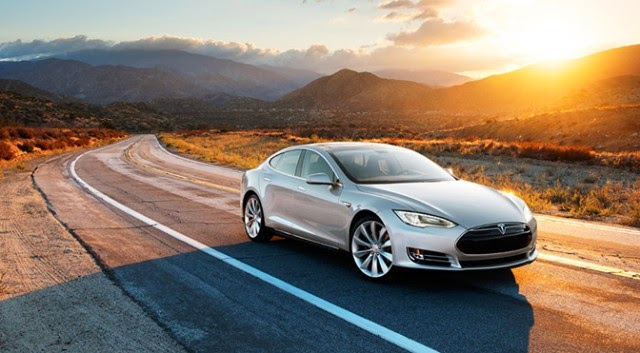Tesla Model S aspirational shot
