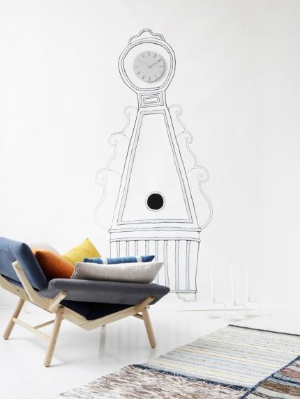 reloj de pared ilustrado