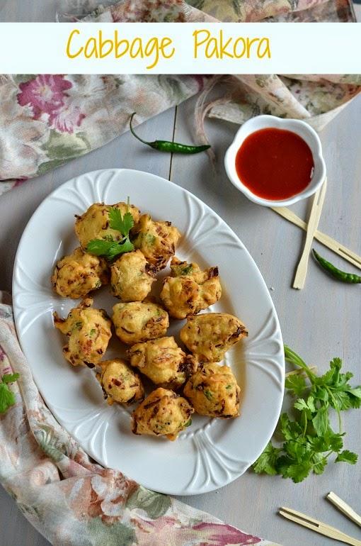 cabbage pakora/cabbage fritters - virtual birthday treat for divya